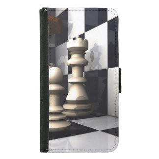 チェスの試合のスタイル GALAXY S5 ウォレットケース