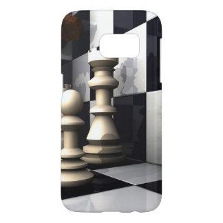 チェスの試合の演劇 SAMSUNG GALAXY S7 ケース