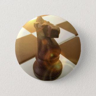 チェスの騎士円形ボタン 5.7CM 丸型バッジ