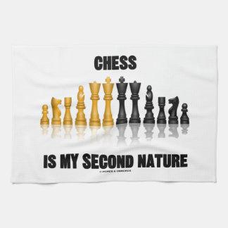 チェスはです私の第2の天性(反射チェスのこまセット) キッチンタオル