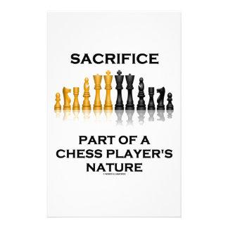チェスをする人の自然の犠牲の部品 便箋
