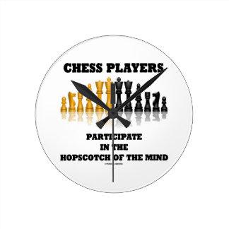 チェスをする人は心のHopscotchに加わります ラウンド壁時計