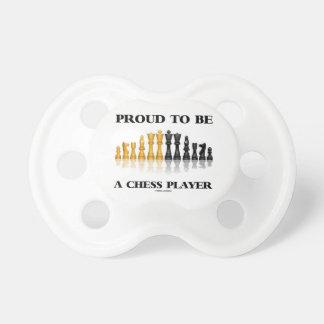 チェスをする人(反射チェスのこまセット)であること誇りを持った おしゃぶり