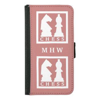 チェスカスタムなモノグラム及び色の電話札入れ GALAXY S5 ウォレットケース