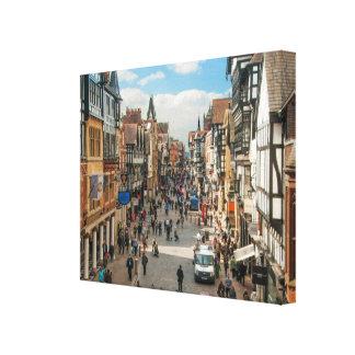 チェスターイギリス歴史的ローマ都市写真 キャンバスプリント