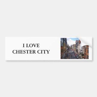 チェスター英国の市 バンパーステッカー