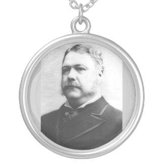 チェスター・A・アーサーの第21大統領 シルバープレートネックレス
