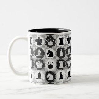 チェスパターン ツートーンマグカップ