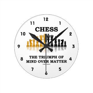 チェス問題上の心の勝利 ラウンド壁時計