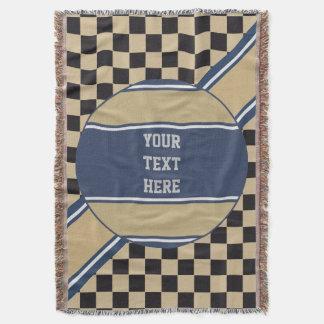 チェス盤パターン + あなたのbackgr。 色及び文字 スローブランケット