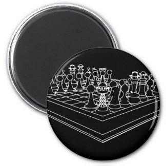 チェス盤及び駒: マグネット