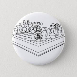 チェス盤及び駒: 5.7CM 丸型バッジ