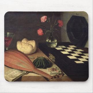 チェス盤1630年が付いている静物画 マウスパッド