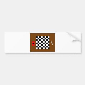 チェス盤、サイコロおよびカードバンパーステッカーを遊ぶこと バンパーステッカー