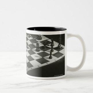 チェス盤 ツートーンマグカップ
