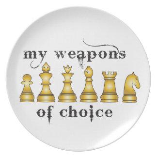 チェス、選択の私の武器 プレート