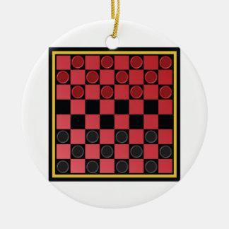 チェッカーのゲーム セラミックオーナメント