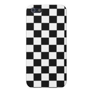 チェッカーのチェス盤のゲームの趣味の黒及び白 iPhone 5 カバー