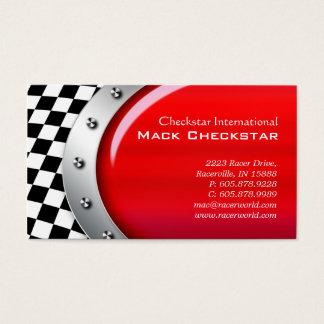 チェッカーのボルトを競争させる車のな名刺 名刺