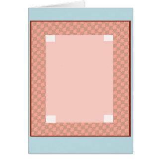 チェッカーボードの挨拶状 カード