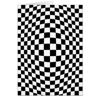 チェッカーボードの目の錯覚 カード