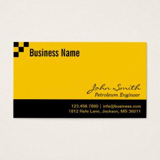チェッカーボードの石油エンジニアの名刺 名刺