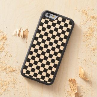 チェッカーボードパターン CarvedメープルiPhone 6バンパーケース
