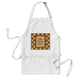 チェッカーボード-チョコレートピーナッツバター スタンダードエプロン