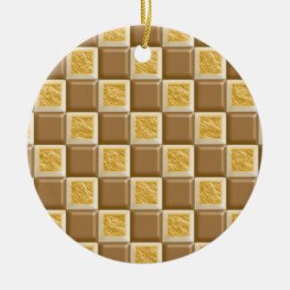 チェッカーボード-チョコレートマシュマロ セラミックオーナメント