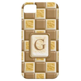 チェッカーボード-チョコレートマシュマロ iPhone SE/5/5s ケース