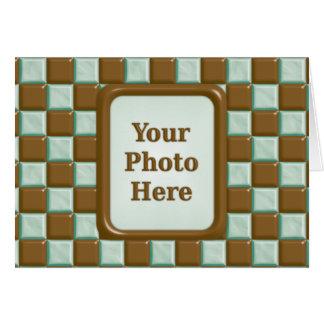 チェッカーボード-チョコレートミント カード