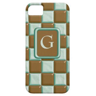 チェッカーボード-チョコレートミント iPhone SE/5/5s ケース
