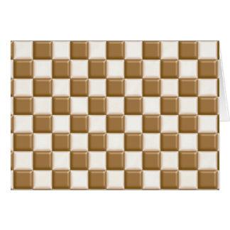 チェッカーボード-ミルクチョコレートおよび白いチョコレート カード