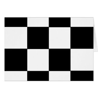 チェッカーボード! (正方形のタイルのデザインの) ~ カード