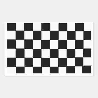 チェッカーボード 長方形シール