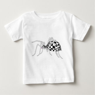 チェック模様のくも ベビーTシャツ