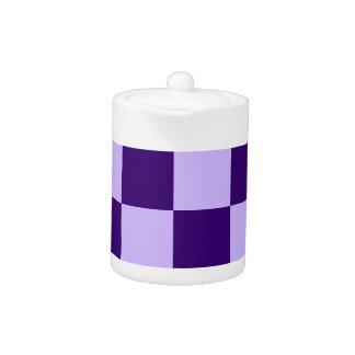 チェック模様の大きい-薄紫および暗いバイオレット