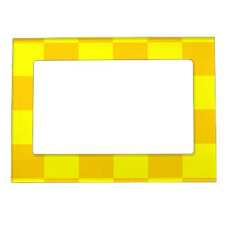 チェック模様の大きい-黄色および暗い黄色 マグネットフレーム