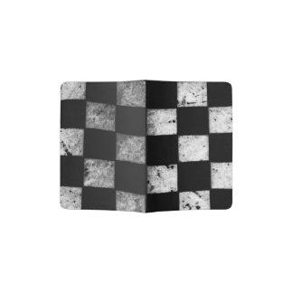 チェック模様の旗のパスポートのホールダー パスポートカバー
