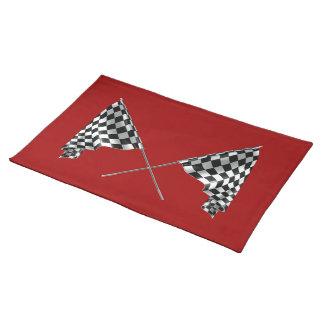 チェック模様の旗 ランチョンマット