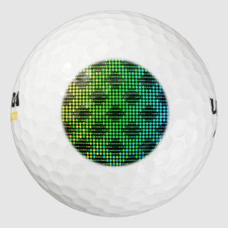 チェック模様の格子塀 ゴルフボール