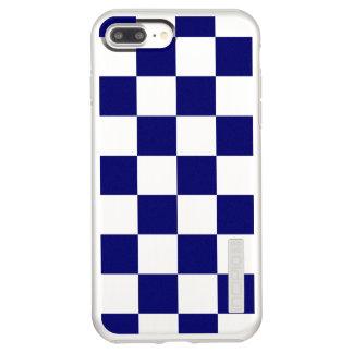 チェック模様の海軍および銀 INCIPIO DualPro SHINE iPhone 8 PLUS/7 PLUSケース