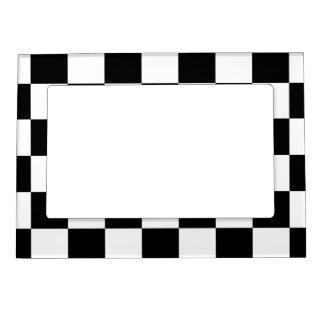 チェック模様の白黒 マグネットフレーム