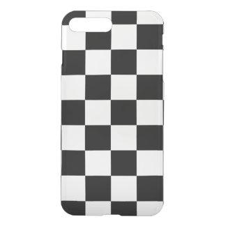チェック模様の白黒 iPhone 8 PLUS/7 PLUS ケース
