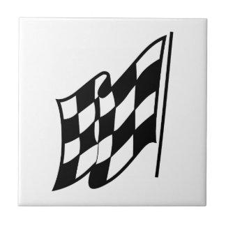 チェック模様の競争の旗 タイル