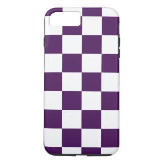 チェック模様の紫色および白いiPhone 8/7のプラスの場合 iPhone 8 Plus/7 Plusケース