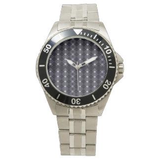チェック模様の腕時計 腕時計