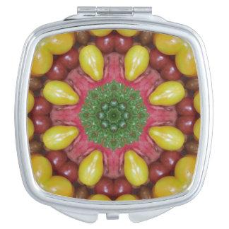 チェリートマトのコンパクトの鏡