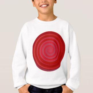 チェリーレッドのレトロキャンデーの渦巻 スウェットシャツ