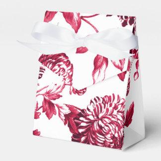 チェリーレッド紫色の花のToile No.2 フェイバーボックス